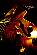 Electric Guitar Photos - 68 Gibson by Christopher Gaston