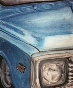 Chrome Pastels Prints - 71 Chevy Print by Jennifer Perry