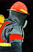 Fireman Paintings - 9-1-1 by Richard Roselli