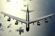 B-52 Posters - A B-52 Stratofortress In Flight Poster by Stocktrek Images