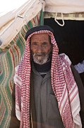 Beards Prints - A Bedouin Man At The Camera In Front Print by Taylor S. Kennedy