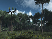 Earth Digital Art - A Carboniferous Forest Of Midwestern by Walter Myers