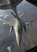 Mechanism Photo Prints - A Chilean Air Force F-16 Refuels Print by Giovanni Colla