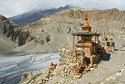 Kali Framed Prints - A Chorten, Or Buddhist Shrine Framed Print by Stephen Sharnoff