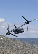Osprey Tapestries Textiles Acrylic Prints - A Cv-22 Osprey On A Training Mission Acrylic Print by HIGH-G Productions