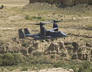 Osprey Tapestries Textiles Acrylic Prints - A Cv-22 Osprey Prepares To Land Acrylic Print by HIGH-G Productions