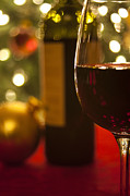 Festive Photo Prints - A Drink by the Tree Print by Andrew Soundarajan