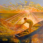 Saving Paintings - A Fisher Of Men by Kip Decker