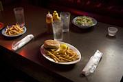A Hamburger Lunch At A Restaurant Print by Joel Sartore