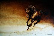 Reproduction Pyrography Originals - A Horse... Off Course by Dino Muradian