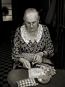 Bobbin Photos - A lacemaker in Bruges by RicardMN Photography