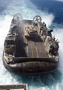 Chained Prints - A Landing Craft Air Cushion Transits Print by Stocktrek Images