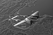 Vintage Aircraft Photos - A Lockheed P-38 Lightning Fighter by Scott Germain