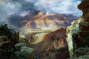 Great Outdoors Painting Posters - A Miracle of Nature Poster by Thomas Moran