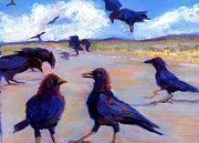 Crows Pastels - A Murder During The Day by Cheryl Whitehall