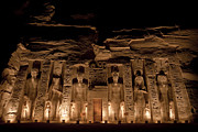 Nubia Acrylic Prints - A Nighttime View Of Nefertaris Temple Acrylic Print by Taylor S. Kennedy