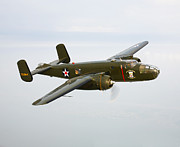 B-25 Bomber Posters - A North American B-25 Mitchell Poster by Scott Germain