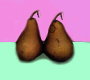 Pears Digital Art Framed Prints - A Pair of Pears Framed Print by Madeline Ellis