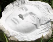 Face Reliefs - A piece of marble by Marino Ceccarelli Sculptor