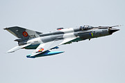Romania Photo Prints - A Romanian Air Force Mig-21 Lancer Print by Anton Balakchiev