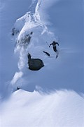 Canada Sports Framed Prints - A Skier In The Selkirk Range, British Framed Print by Jimmy Chin