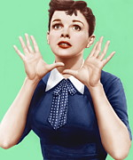 Garland Posters - A Star Is Born, Judy Garland, 1954 Poster by Everett