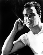 White T-shirt Photos - A Streetcar Named Desire, Marlon by Everett