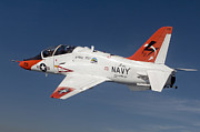 Us Navy Photos - A T-45c Goshawk Training Aircraft by Stocktrek Images