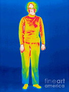 Clothed Posters - A Thermogram Of A Clothed Woman Poster by Ted Kinsman