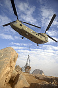 Helicopter Art - A U.s. Army Ch-47 Chinook Helicopter by Stocktrek Images