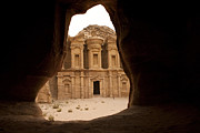 Featured Art - A View Of The Monastary In Petra by Taylor S. Kennedy
