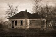 Old Houses Metal Prints - Abandoned Farm House Metal Print by Richard Wear