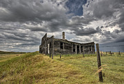Haunted Barn Posters - Abandoned Farmhouse Saskatchewan Canada Poster by Mark Duffy