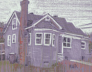 House Pastels Prints - Abandoned House Print by Donald Maier