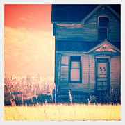 Wood Porch Posters - Abandoned House Poster by Jill Battaglia