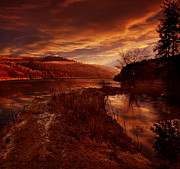 Derwent Reservoir Prints - Abbey Lane Print by Nigel Hatton