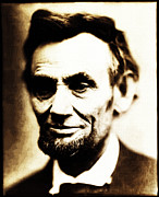 Abe Lincoln Digital Art Posters - Abe Poster by Bill Cannon