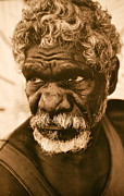 Old Face Framed Prints - Aboriginal Framed Print by Dorota Nowak