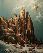 Hot Air Paintings - Above the Dragons Teeth by Tom Shropshire