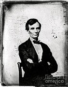 Abraham Lincoln Prints - Abraham Lincoln, 16th American President Print by Photo Researchers