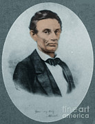 Colorized Prints - Abraham Lincoln, 16th American President Print by Science Source