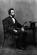 1800s Framed Prints - Abraham Lincoln, 1809-1865, U.s Framed Print by Everett
