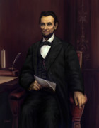 Abraham Lincoln Framed Prints - Abraham Lincoln  Framed Print by Sue  Brehant