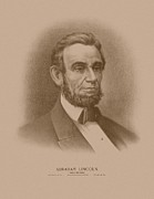 Abraham Lincoln Prints - Abraham Lincoln Print by War Is Hell Store