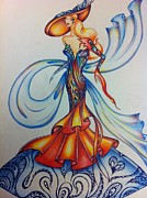 Abstract Fashion Art Drawings - Abstract Art Fashion by Natasha Russu
