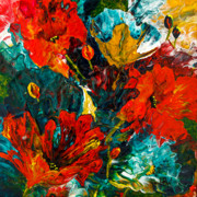 Fineartamerica.com Paintings - Abstract Blooms by Lynda Bee White
