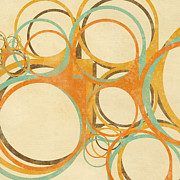 Blank Greeting Card Prints - Abstract Circle Print by Setsiri Silapasuwanchai