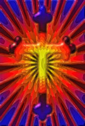 Jesus Crucifix Digital Art - Abstract Cross by David G Paul