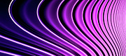 Illuminated Digital Art - Abstract Curved Lines, Diminishing Perspective by Ralf Hiemisch