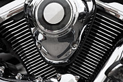 Y120831 Art - Abstract Motorcycle Engine by Andrew Dernie